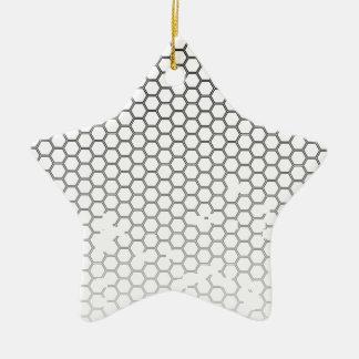 Honeycomb Grunge Ceramic Star Ornament