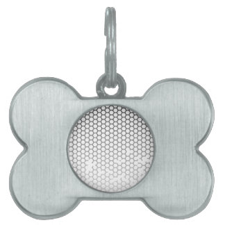 Honeycomb Grunge Pet ID Tags