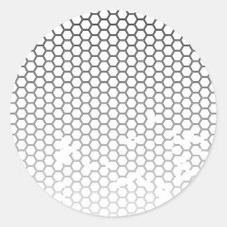 Honeycomb Grunge Round Sticker