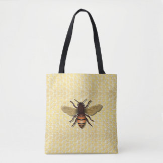 Honeycomb Honey Bee Tote Bags