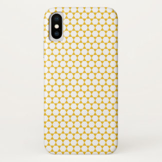 Honeycomb pattern in mustard yellow iPhone x case