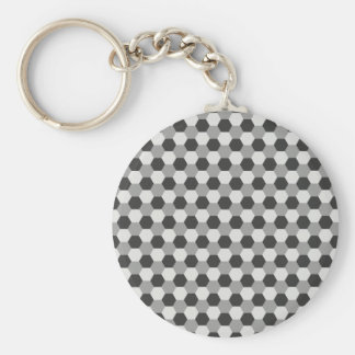 Honeycomb pattern keychain