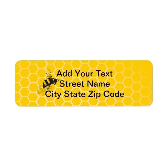 Honeycomb Return Address Label