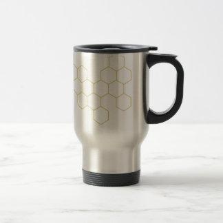 Honeycomb simplified pattern design travel mug