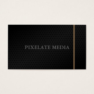 Honeycomb texture double line brown business card