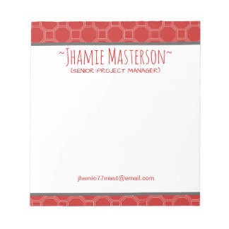 Honeycomb Tile Red Notepad