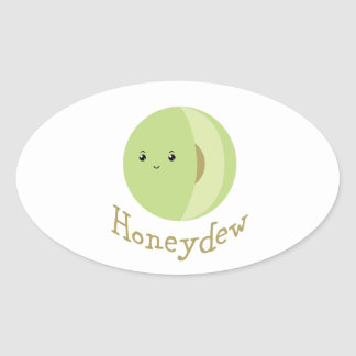 Honeydew Oval Sticker