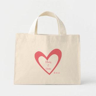 Honeymoon Bag- Pink Heart Mini Tote Bag