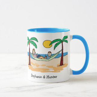 Honeymoon couple - personalized cartoon mug