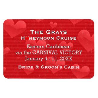 Honeymoon Cruise Cabin Door Marker Romantic Hearts Magnet