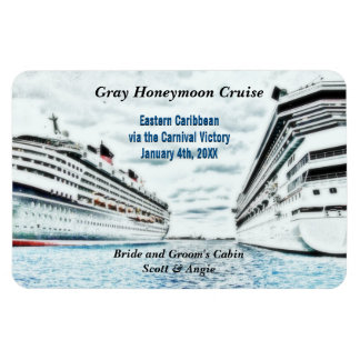 Honeymoon Cruise Ships | Personalized Cabin Marker Magnet