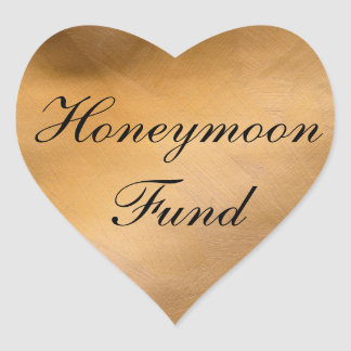 Honeymoon Fund Copper Heart Heart Sticker