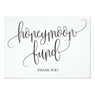Honeymoon Fund Wedding Sign Card