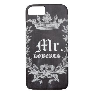 Honeymoon Groom chalkboard wedding Mr iPhone 8/7 Case