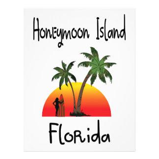 Honeymoon Island Florida. Letterhead Design