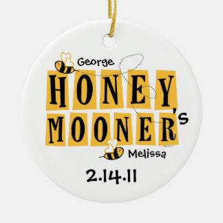 Honeymooner Bee Personalized Ornament