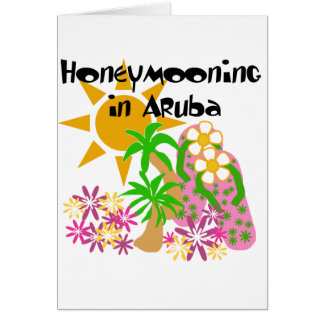 Honeymooning in Aruba Card