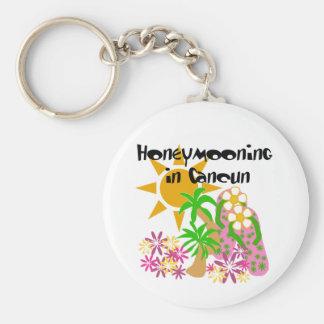 Honeymooning in Cancun Basic Round Button Keychain