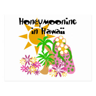 Honeymooning in Hawaii Postcard