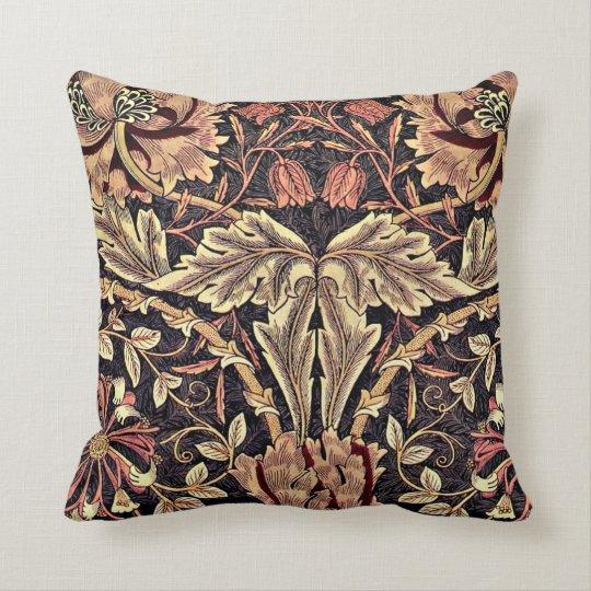 Honeysuckle, a William Morris vintage design Throw Pillow