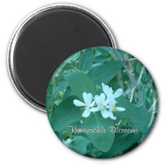 Honeysuckle Blossoms 2 Inch Round Magnet