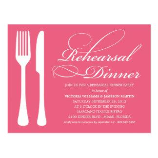 HONEYSUCKLE FLATWARE | REHEARSAL DINNER INVITE POSTCARD