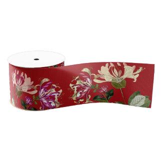 Honeysuckle Floral Flowers Garden Ribbon Grosgrain Ribbon