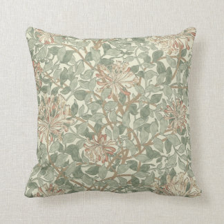 Honeysuckle Floral Wallpaper William Morris Throw Pillow