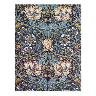 Honeysuckle Flower William Morris Postcard