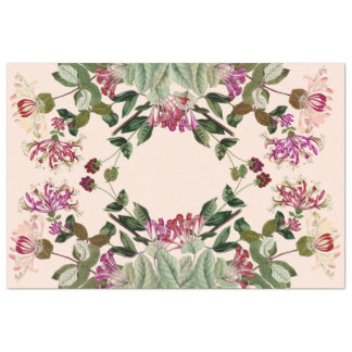 Honeysuckle Flowers Floral Tissue Paper