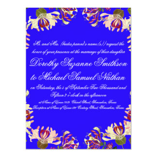 Honeysuckle Flowers Floral Wedding Invitation