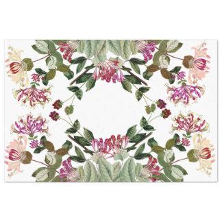 Honeysuckle Flowers Floral Wreath Tissue Paper