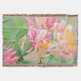Honeysuckle flowers throw