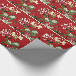 Honeysuckle Flowers Vintage Floral Wrapping Paper