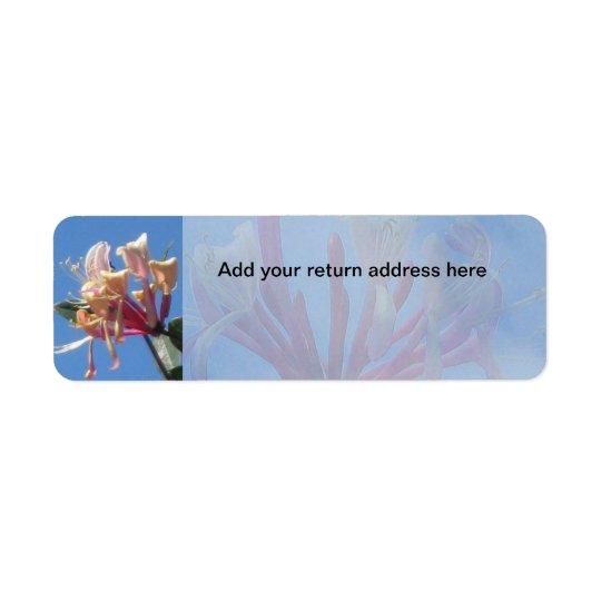Honeysuckle Return Address Label