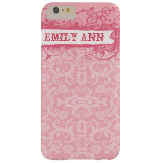 Honeysuckle Swirl Grunge iPhone Case Barely There iPhone 6 Plus Case