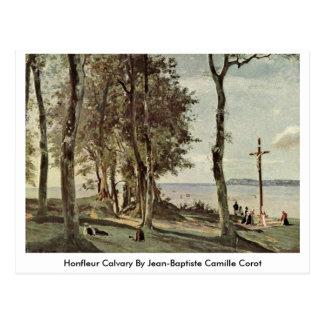 Honfleur Calvary By Jean-Baptiste Camille Corot Postcard