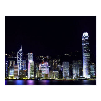 Hong Kong at Night Postcard