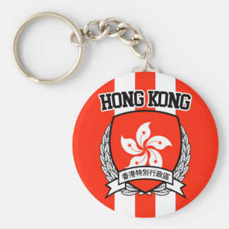 Hong Kong Basic Round Button Keychain