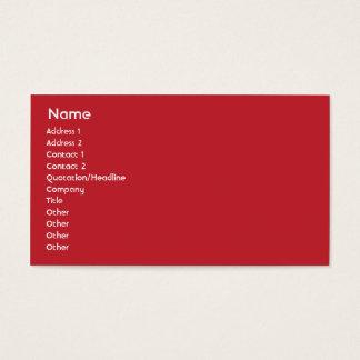 Hong Kong - Business Business Card