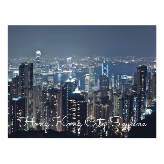 Hong Kong City Skyline Postcards