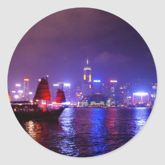 Hong Kong Classic Round Sticker