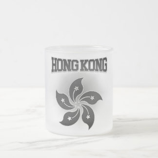 Hong Kong Coat of Arms Frosted Glass Coffee Mug