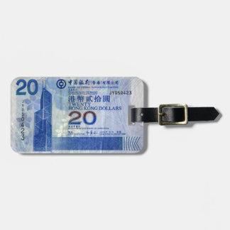 Hong Kong Dollars Luggage Tag