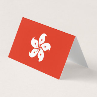 Hong Kong Flag Card