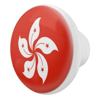Hong Kong  Flag Ceramic Knob