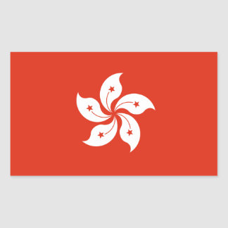 Hong Kong Flag. China/Chinese Sticker