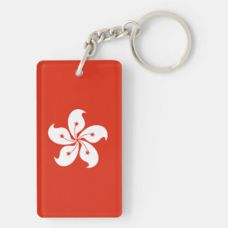 Hong Kong Flag Double-Sided Rectangular Acrylic Keychain