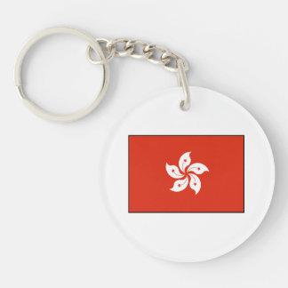 Hong Kong Flag Keychain