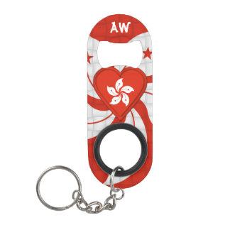 Hong Kong Flag Keychain Bottle Opener